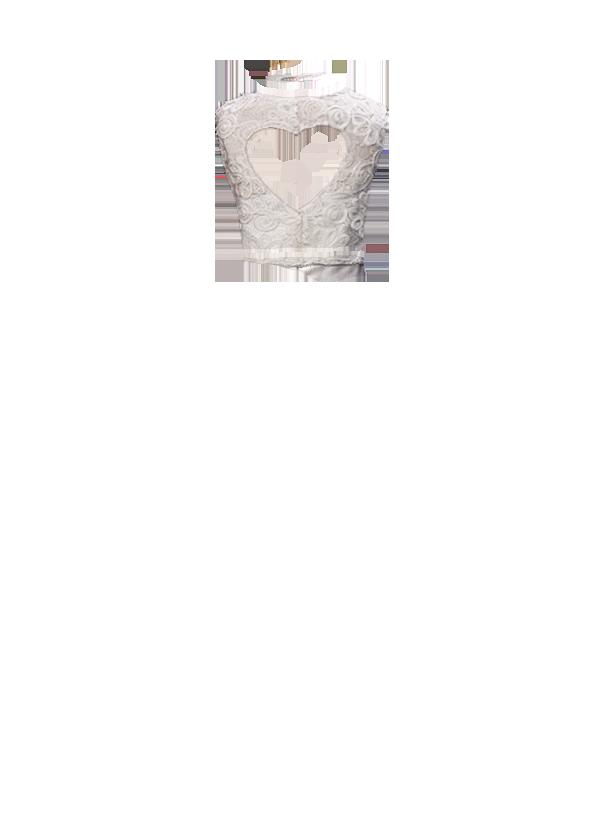 Costas Renda Plissada TQC decote coração