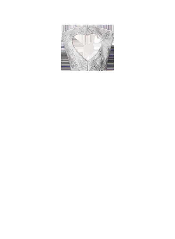 Costas Renda Rosinhas - forro coração